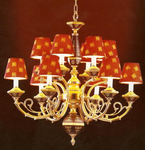 Red lampshade chandelier china manufacturer interior lighting red lampshade chandelier 3 aloadofball Image collections