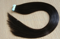 high quality remy double side PU tape hair extension