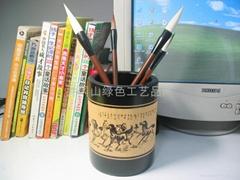 激光雕刻竹笔筒