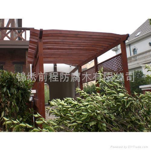 江阴阳台木廊架 1
