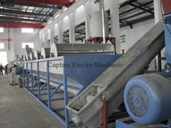 big capacity pe pp film washing line