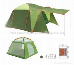 Solar two rooms rectangle tent
