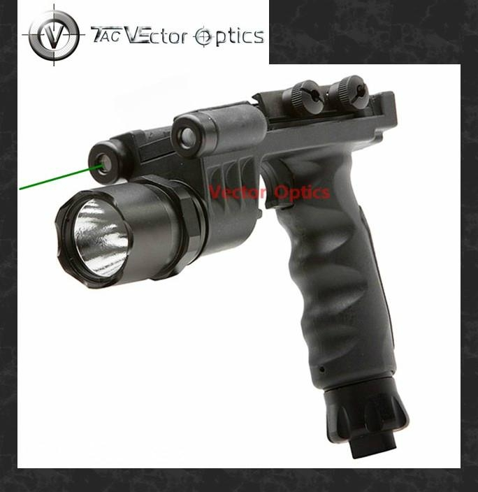 TAC Vector Optics Fore Grip LED Flashlight Green Laser Combo Sight Weaponlight