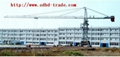 Track traveling type tower crane