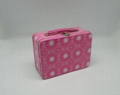 Tin Box With Handle