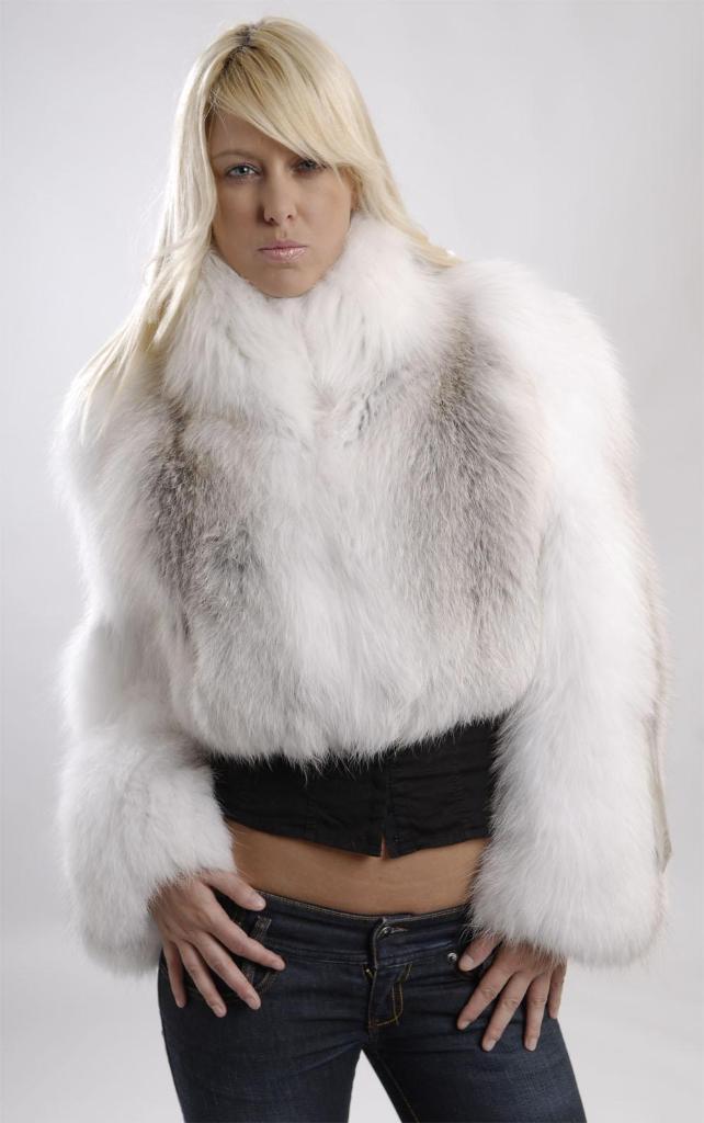 Feathered Fox Fur Bolero Jacket 5522 Mailon Furs