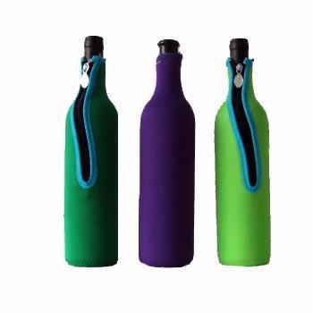 Neoprene Wine Bottle Cooler With Slide Fastner 3