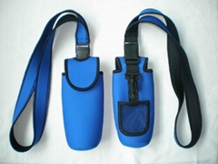Neoprene Bottle Holder with Shoulder
