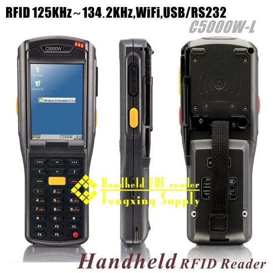 WiFi Portable RFID reader 125KHZ~134.2KHZ USB/RS232