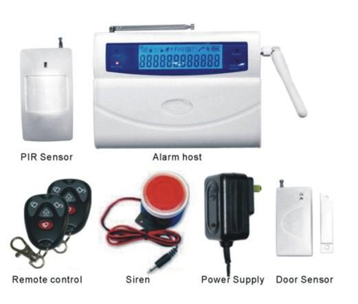 LCD GSM Wireless Burglar Alarm