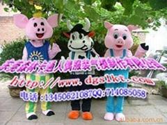 猪和牛卡通服装