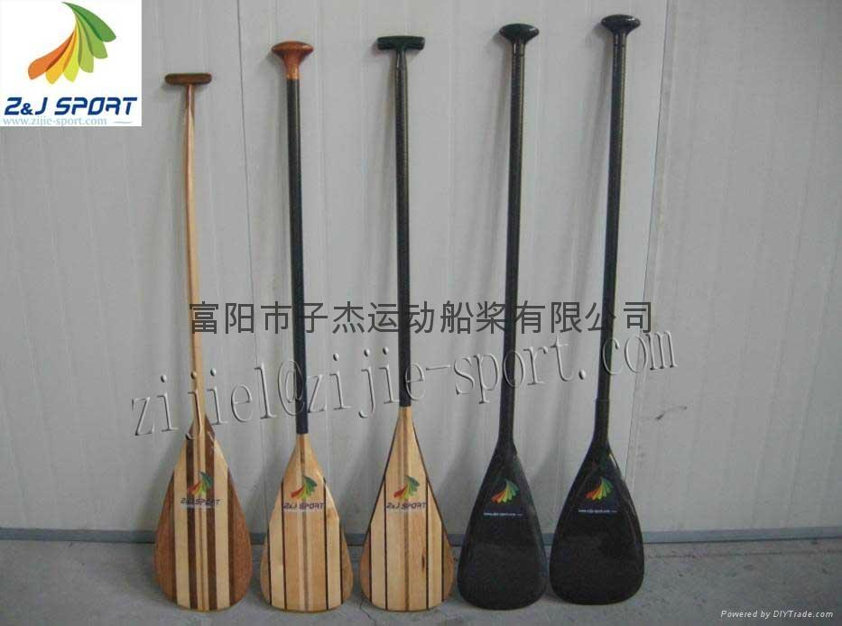 Carbon fiber Outrigger Canoe Paddle - Z&J SPORT (China Manufacturer