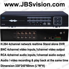 4 CH Real Time Network DVR Dual Stream 3G Mobile Phone Remote View