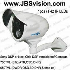 Effio 700TVL or 3D DNR 650TVL Weatherproof IR Camera with 50m IR distance