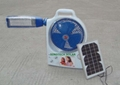 STS-1026 Solar fan with LED lantern