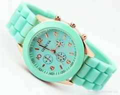 Fashion Ladies sports brand silicone watch jelly watch 12 colors