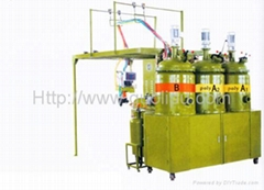 PU shoe soles forming machine