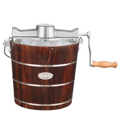 Hand crank ice cream maker wooden ice cream maker homemade for Making sorbet by hand