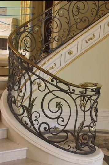 Wrought Iron Stair Handrail 1 ...