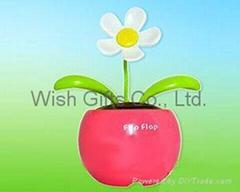 Solar Dancing Flower with mini apple pot