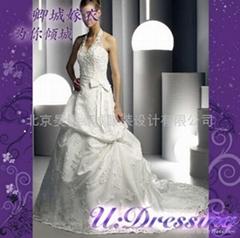 卿城婚紗禮服定製~蕾絲施華洛世奇嫁衣~婚禮拍照人氣新娘
