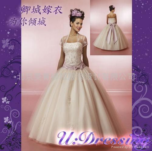 卿城婚紗禮服定製~公主蓬蓬沙繡花嫁衣幸福新娘 1