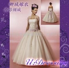 卿城婚紗禮服定製~公主蓬蓬沙繡花嫁衣幸福新娘