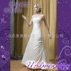 排花簡潔修身款婚紗嫁衣~拍照婚禮別緻新娘