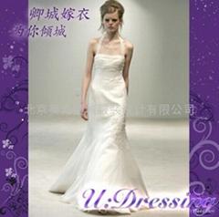 卿城婚紗禮服定製~繡花魚尾前衛嫁衣~拍照婚禮冰肌玉骨新娘