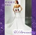 卿城婚紗禮服定製~抹胸款紅色腰帶嫁衣~拍照婚禮佛朗明哥式 2