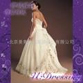 卿城婚紗禮服定製~宮廷式奢華彩線繡嫁衣~復古華美新娘 2