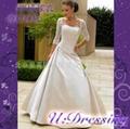 卿城婚紗定製~七分袖蕾絲婚紗嫁