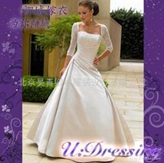 卿城婚紗定製~七分袖蕾絲婚紗嫁衣~拍照婚禮典雅新娘