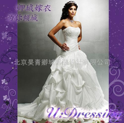 卿城~古希臘式彫塑感褶皺嫁衣~拍照婚禮高雅新娘 1
