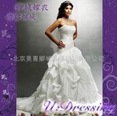 卿城~古希臘式彫塑感褶皺嫁衣~拍照婚禮高雅新娘
