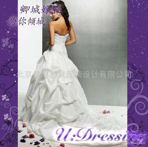 卿城~古希臘式彫塑感褶皺嫁衣~拍照婚禮高雅新娘 2