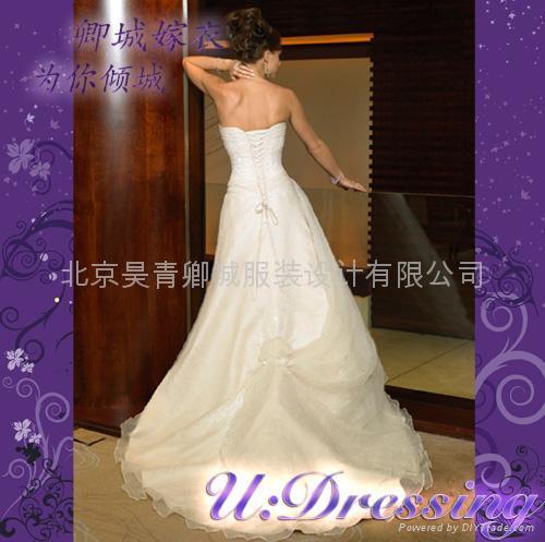 卿城婚紗禮服定製~抹胸款大拖尾嫁衣~拍照婚禮迷人新娘 2