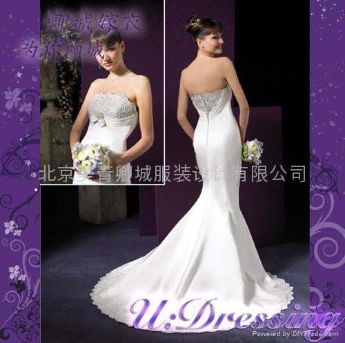卿城婚紗禮服定製~極具造型感嫁衣~拍照婚紗婀娜新娘 1