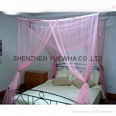 square dome double size mosquito net