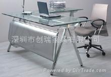 玻璃辦公桌