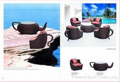 tea pot shape sofa set