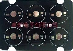 卓新电子铝基板PCB 6珠投光灯-88x61mm