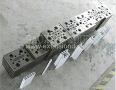 PVC window profile extrusion mould