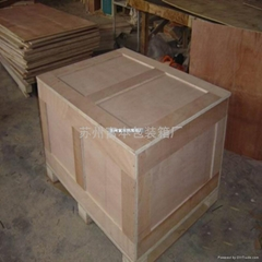 蘇州出口免薰蒸膠合板木製包裝箱