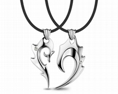 Stainless steel pendant couple Sanskrit