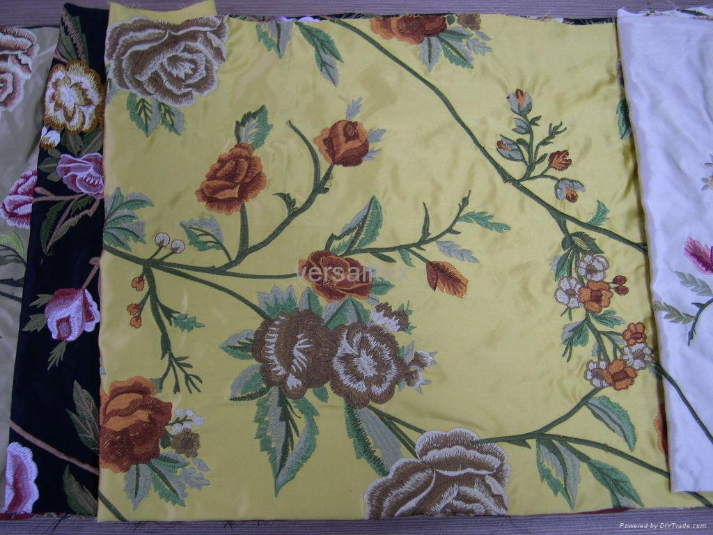 silk embroidery fabric(silk home fabric) 1