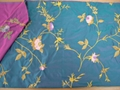 silk embroidery fabric(silk home fabric) 3