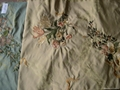 silk embroidery fabric(silk home fabric) 5