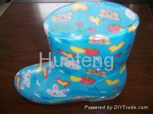 pvc boots for children 2
