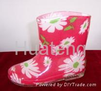 pvc boots for children 3